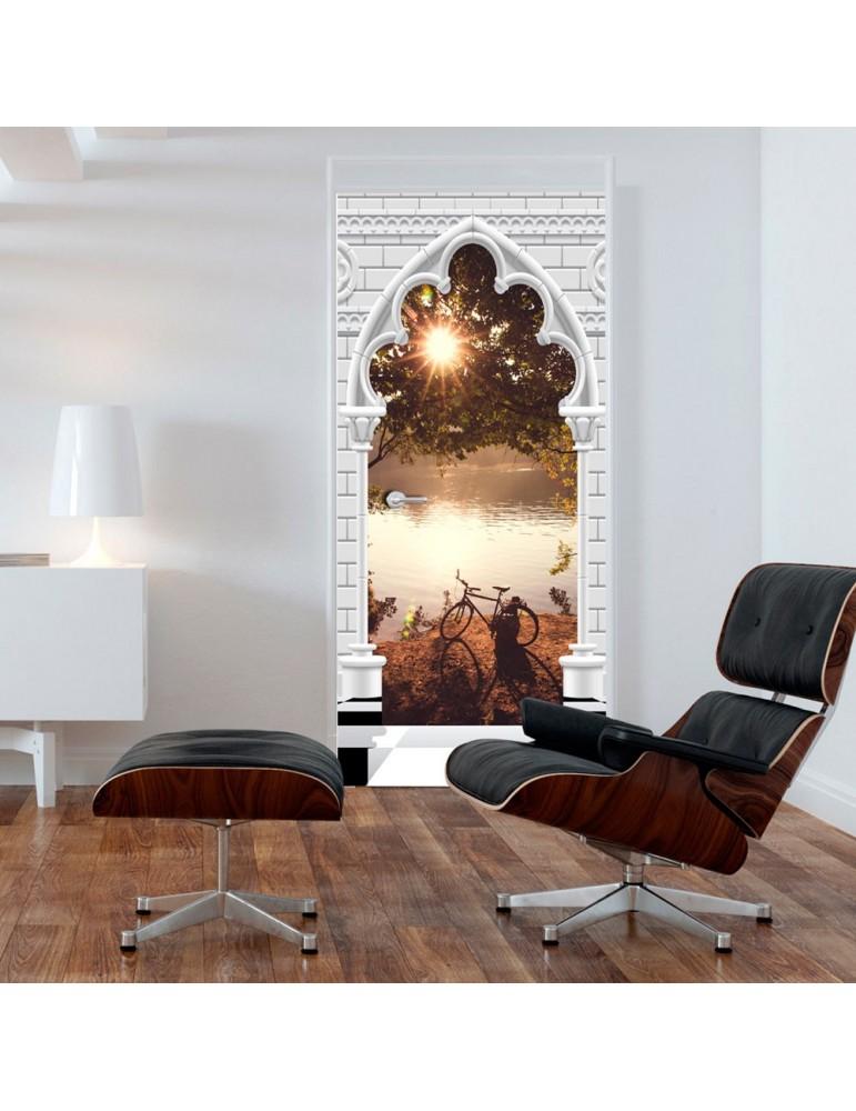 Papier-peint pour porte - Photo wallpaper - Gothic arch and lake I A1-TNTTUR_70_0358