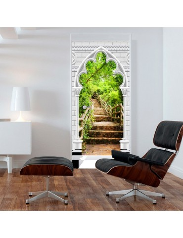 Papier-peint pour porte - Photo wallpaper - Gothic arch and stone staircase I A1-TNTTUR_70_0359