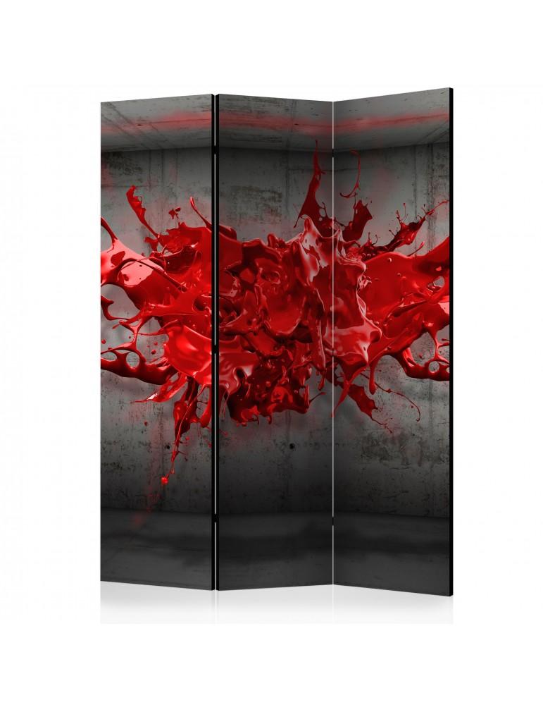 Paravent 3 volets - Red Ink Blot [Room Dividers] A1-PARAVENT77