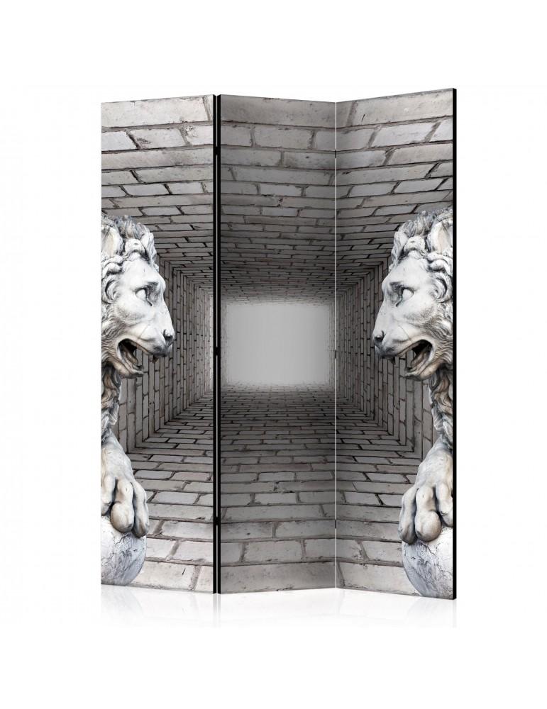 Paravent 3 volets - Stone Lions [Room Dividers] A1-PARAVENT75