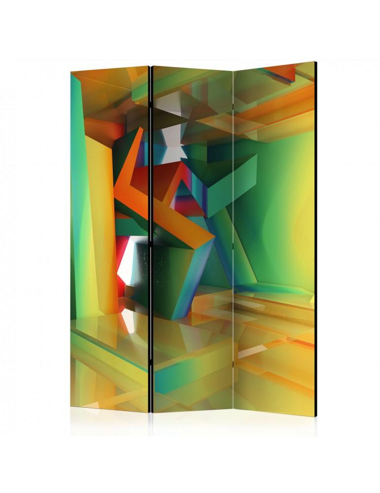 Paravent 3 volets - Colourful Space [Room Dividers] A1-PARAVENT770