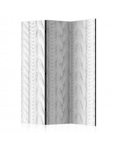 Paravent 3 volets - White Knit [Room Dividers] A1-PARAVENT730