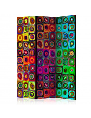 Paravent 3 volets - Colorful Abstract Art [Room Dividers] A1-PARAVENT736