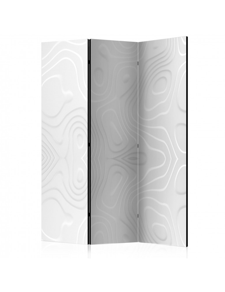 Paravent 3 volets - Room divider - White waves I A1-PARAVENT919