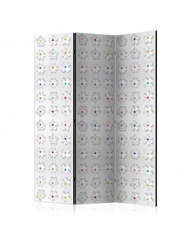 Paravent 3 volets - Room divider – Colorful flowers I A1-PARAVENT933