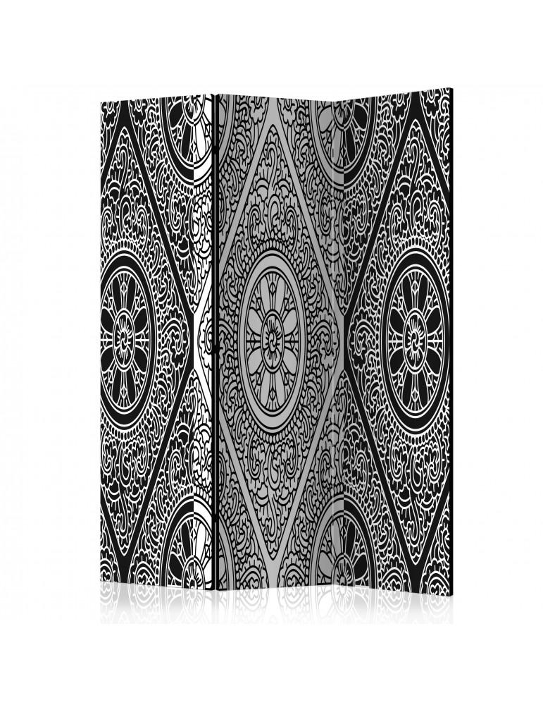 Paravent 3 volets - Ethnic Monochrome [Room Dividers] A1-PARAVENT742