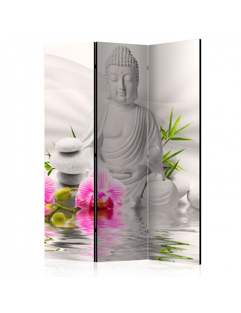 Paravent 3 volets - Buddha and Orchids [Room Dividers] A1-PARAVENT89