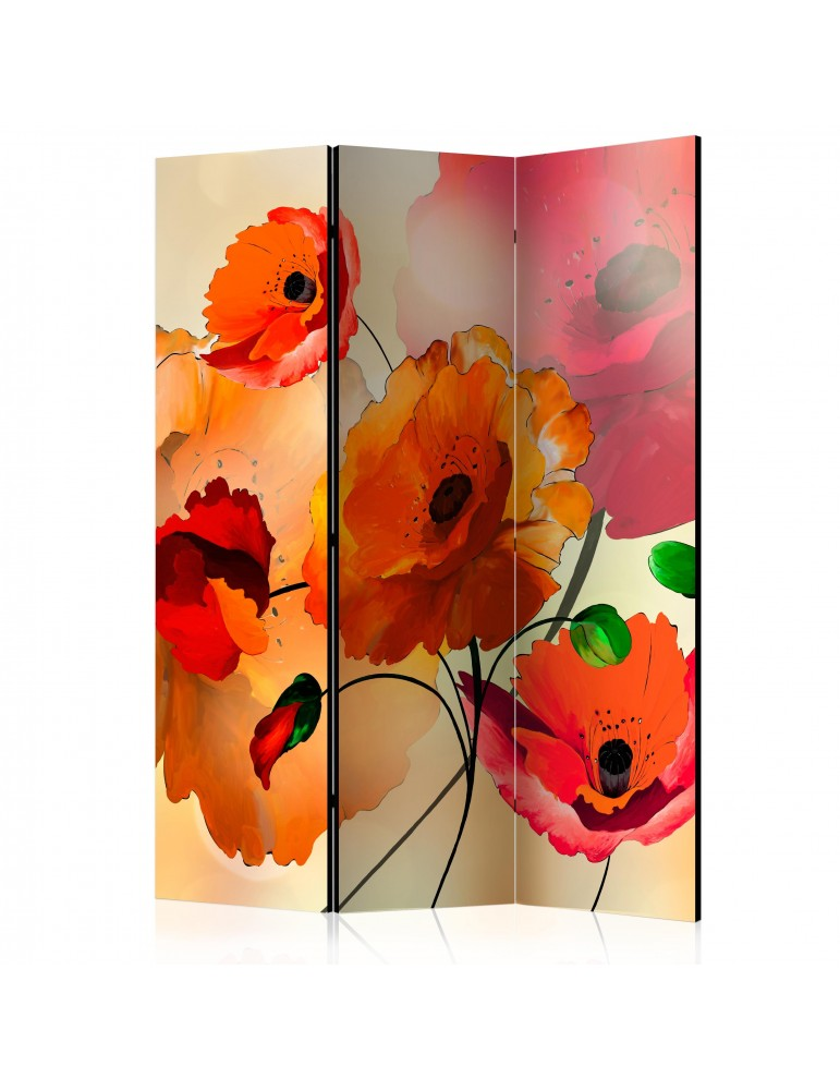 Paravent 3 volets - Velvet Poppies [Room Dividers] A1-PARAVENT465