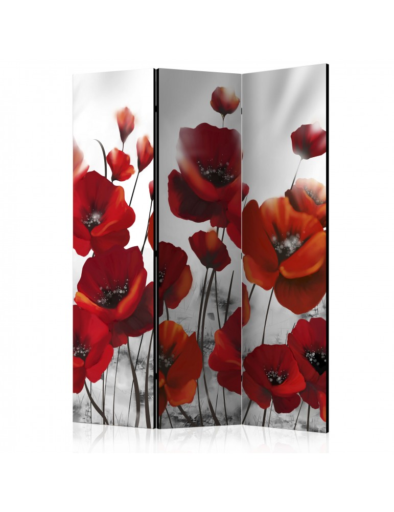 Paravent 3 volets - Poppies in the Moonlight [Room Dividers] A1-PARAVENT461