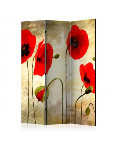 Paravent 3 volets - Golden Field of Poppies [Room Dividers] A1-PARAVENT467