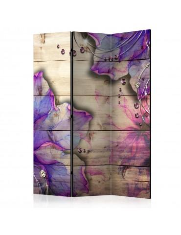 Paravent 3 volets - Purple Memory [Room Dividers] A1-PARAVENT647