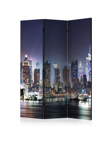 Paravent 3 volets - Night Port [Room Dividers] A1-PARAVENT489