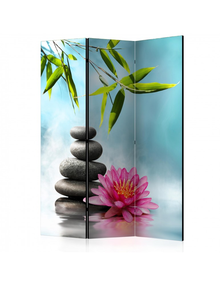Paravent 3 volets - Water Lily and Zen Stones [Room Dividers] A1-PARAVENT995