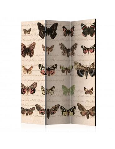 Paravent 3 volets - Retro Style: Butterflies [Room Dividers] A1-PARAVENT1029