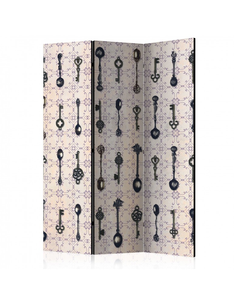 Paravent 3 volets - Retro Style: Silver Spoons [Room Dividers] A1-PARAVENT1031