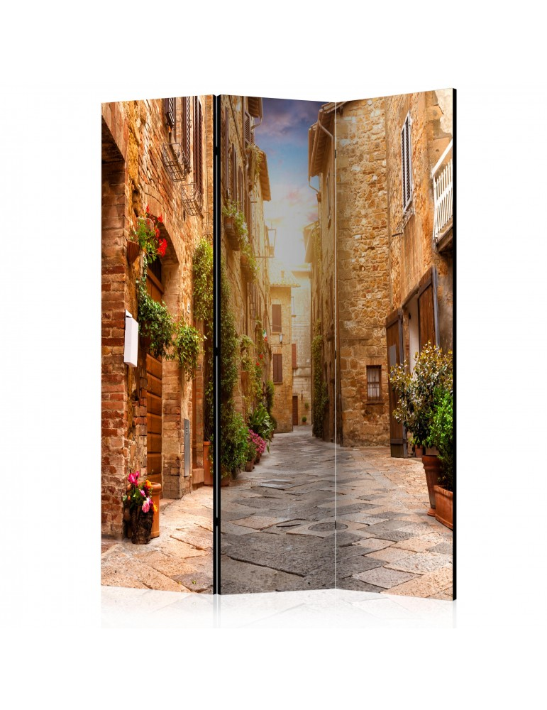 Paravent 3 volets - Colourful Street in Tuscany [Room Dividers] A1-PARAVENT621
