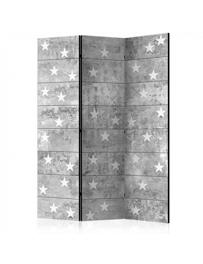 Paravent 3 volets - Stars on Concrete [Room Dividers] A1-PARAVENT152