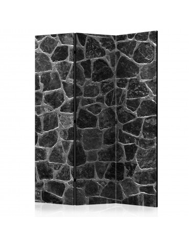 Paravent 3 volets - Black Stones [Room Dividers] A1-PARAVENT895