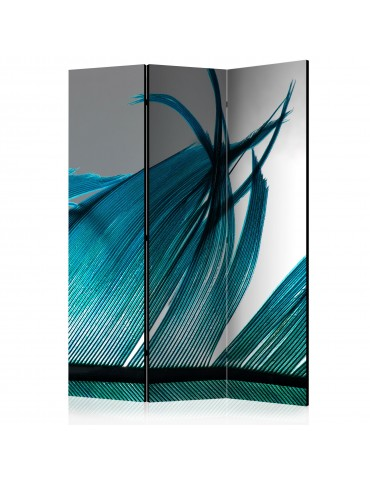 Paravent 3 volets - Turquoise Feather [Room Dividers] A1-PARAVENT1013
