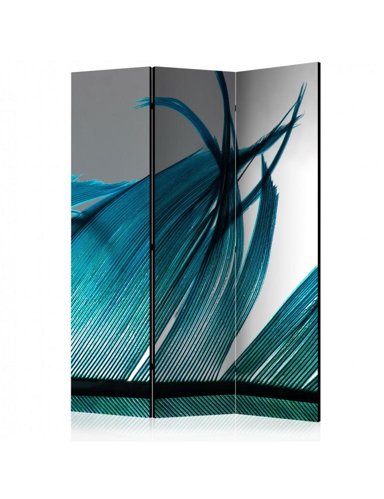 Paravent 3 volets - Turquoise Feather [Room Dividers] A1-PARAVENT1013