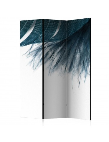 Paravent 3 volets - Dark Blue Feather [Room Dividers] A1-PARAVENT1015