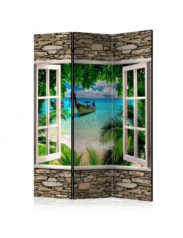 Paravent 3 volets - Tropical Beach [Room Dividers] A1-PARAVENT971