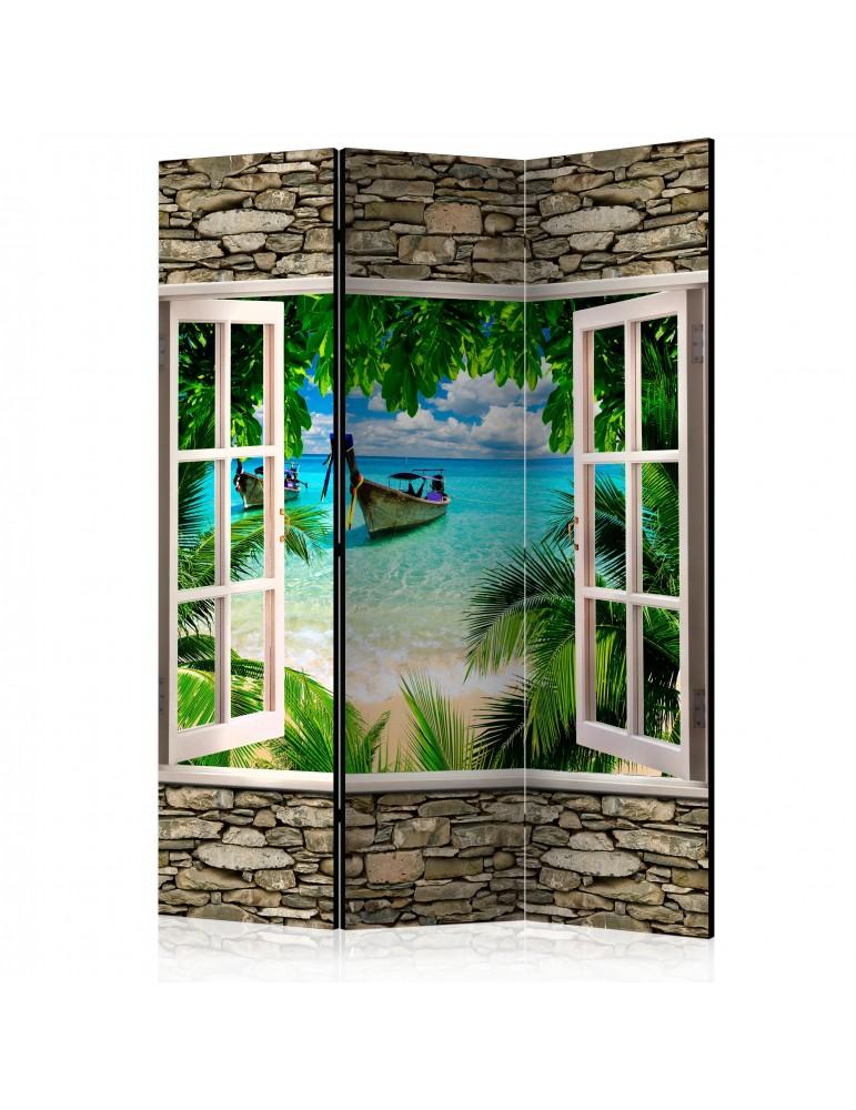 Paravent 3 volets - Tropical Beach [Room Dividers] A1-PARAVENT971