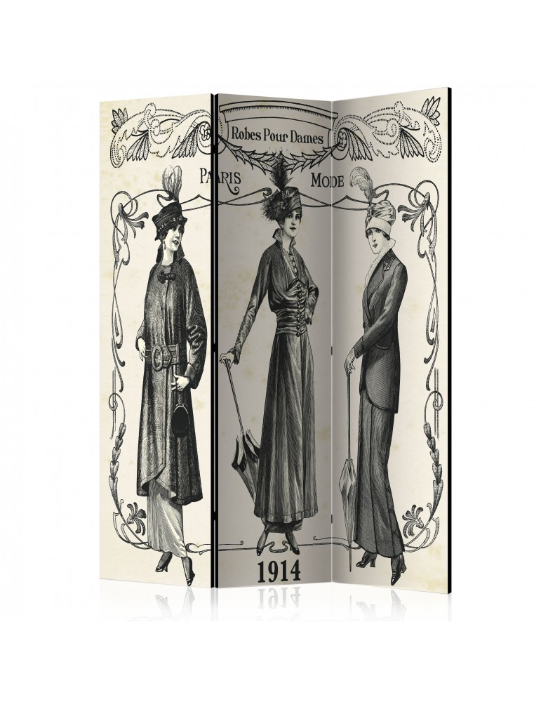 Paravent 3 volets - Dress 1914 [Room Dividers] A1-PARAVENT501