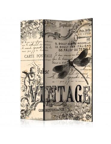 Paravent 3 volets - Vintage Correspondence [Room Dividers] A1-PARAVENT499