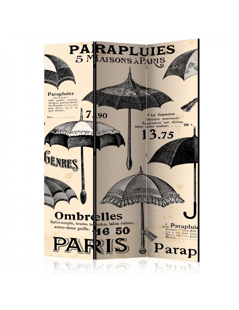 Paravent 3 volets - Vintage Umbrellas [Room Dividers] A1-PARAVENT503