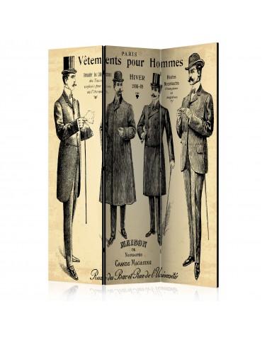 Paravent 3 volets - Vêtements pour Homme [Room Dividers] A1-PARAVENT507