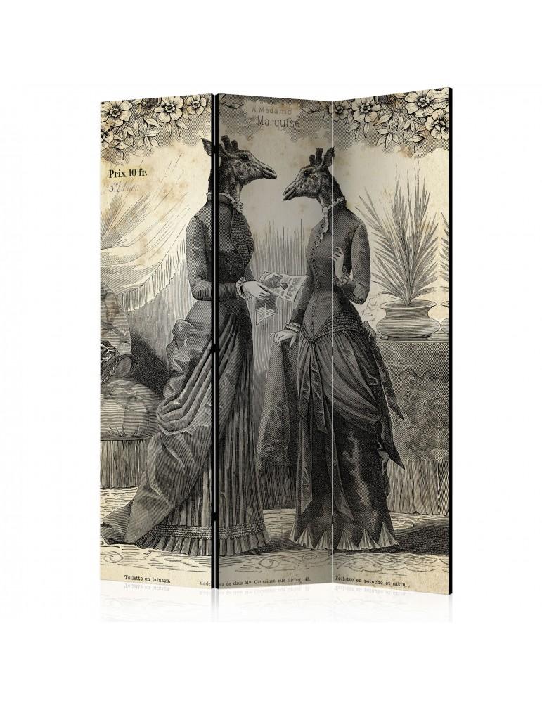 Paravent 3 volets - Conversation [Room Dividers] A1-PARAVENT509
