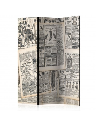 Paravent 3 volets - Vintage Newspapers [Room Dividers] A1-PARAVENT511