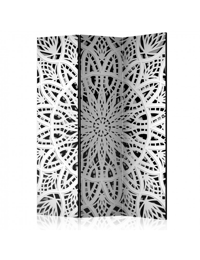 Paravent 3 volets - White Mandala [Room Dividers] A1-PARAVENT1019