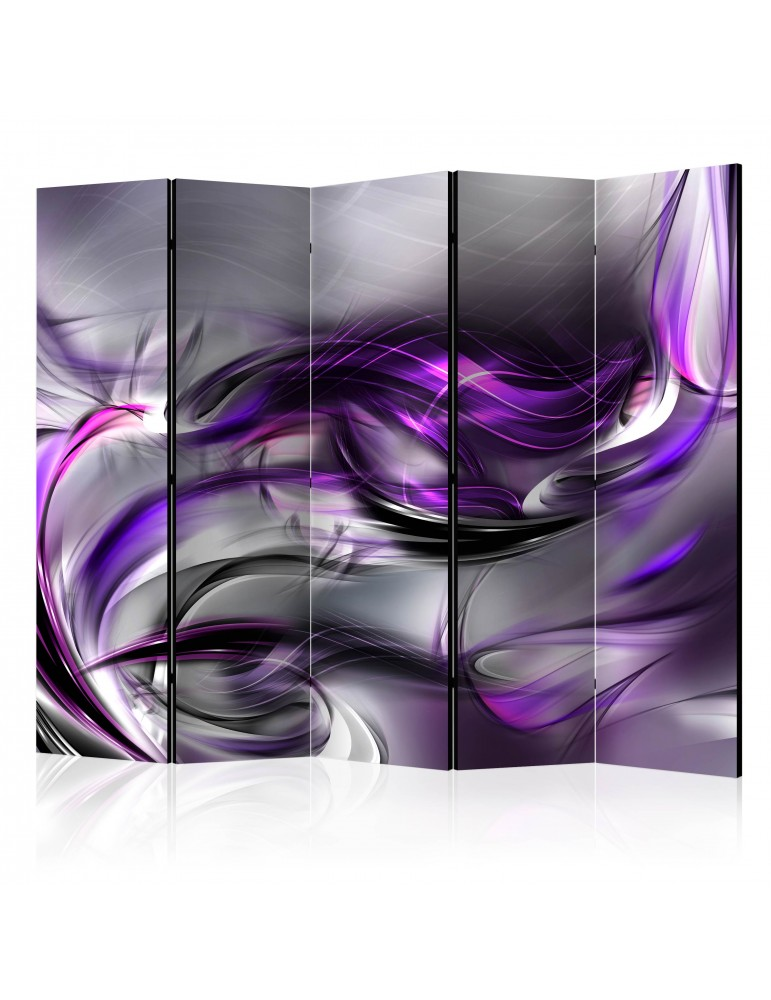Paravent 5 volets - Purple Swirls II [Room Dividers] A1-PARAVENT217