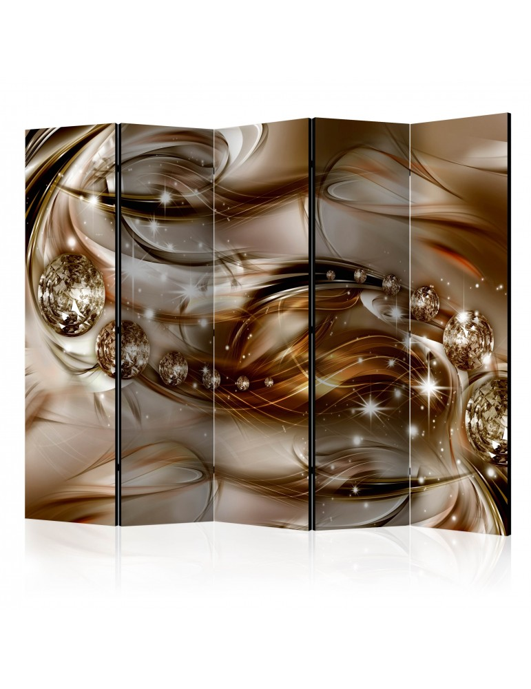 Paravent 5 volets - Chocolate Tide II [Room Dividers] A1-PARAVENT219