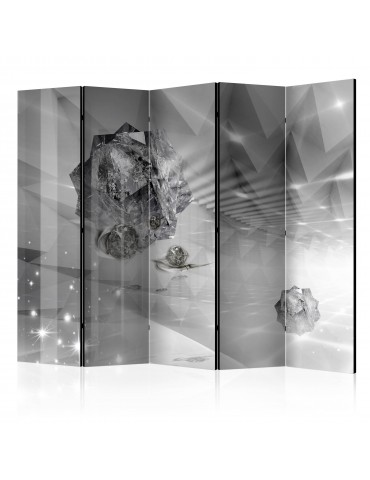 Paravent 5 volets - Abstract Greyness II [Room Dividers] A1-PARAVENT211