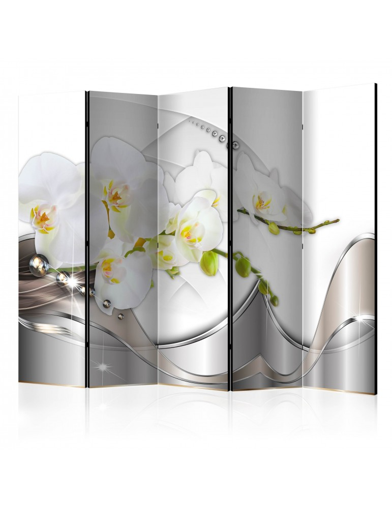 Paravent 5 volets - Pearl Dance of Orchids II [Room Dividers] A1-PARAVENT215