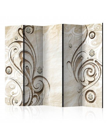 Paravent 5 volets - Stone Butterfly II [Room Dividers] A1-PARAVENT592