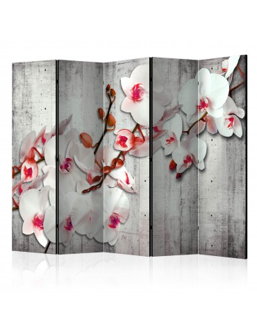 Paravent 5 volets - Concrete Orchid II [Room Dividers] A1-PARAVENT588