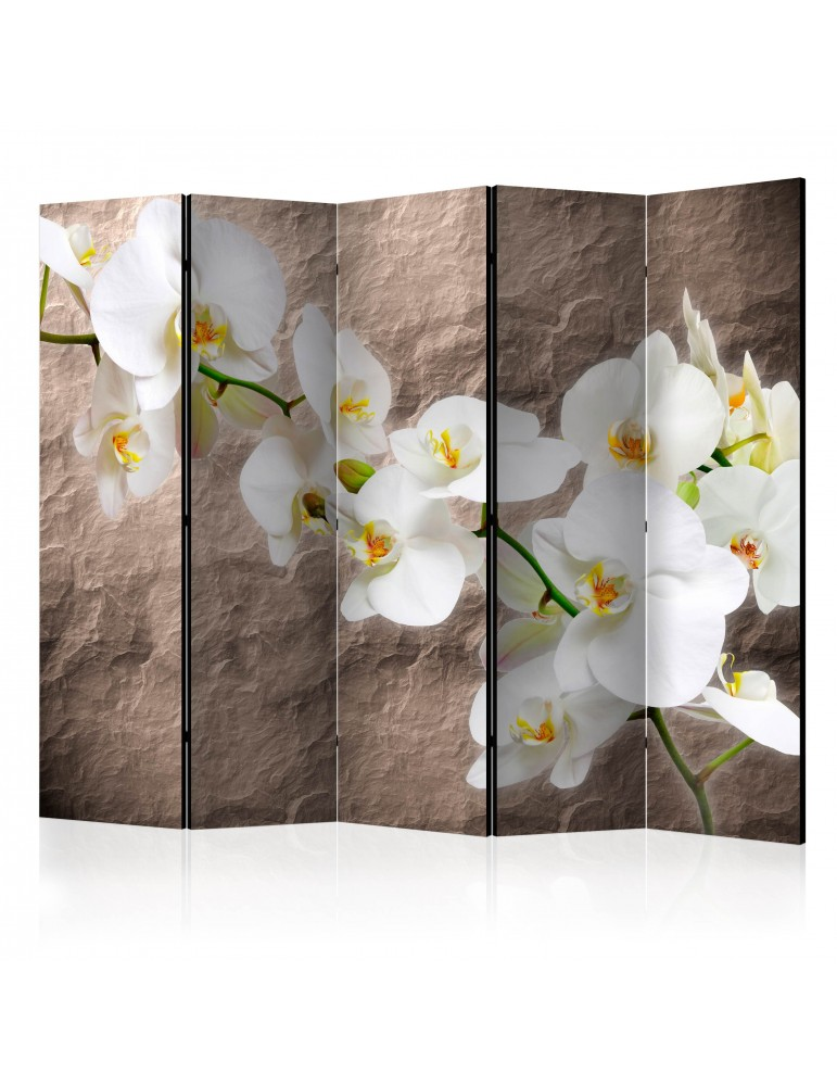 Paravent 5 volets - Impeccability of the Orchid II [Room Dividers] A1-PARAVENT582