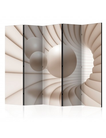 Paravent 5 volets - Balls in the Tunnel II [Room Dividers] A1-PARAVENT54