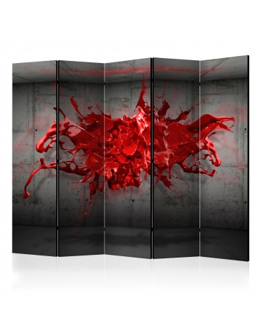 Paravent 5 volets - Red Ink Blot II [Room Dividers] A1-PARAVENT78