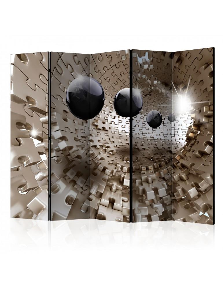 Paravent 5 volets - Golden Jigsaw II [Room Dividers] A1-PARAVENT48