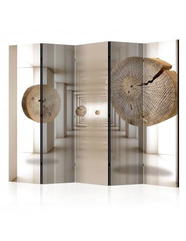 Paravent 5 volets - Futuristic Forest II [Room Dividers] A1-PARAVENT56