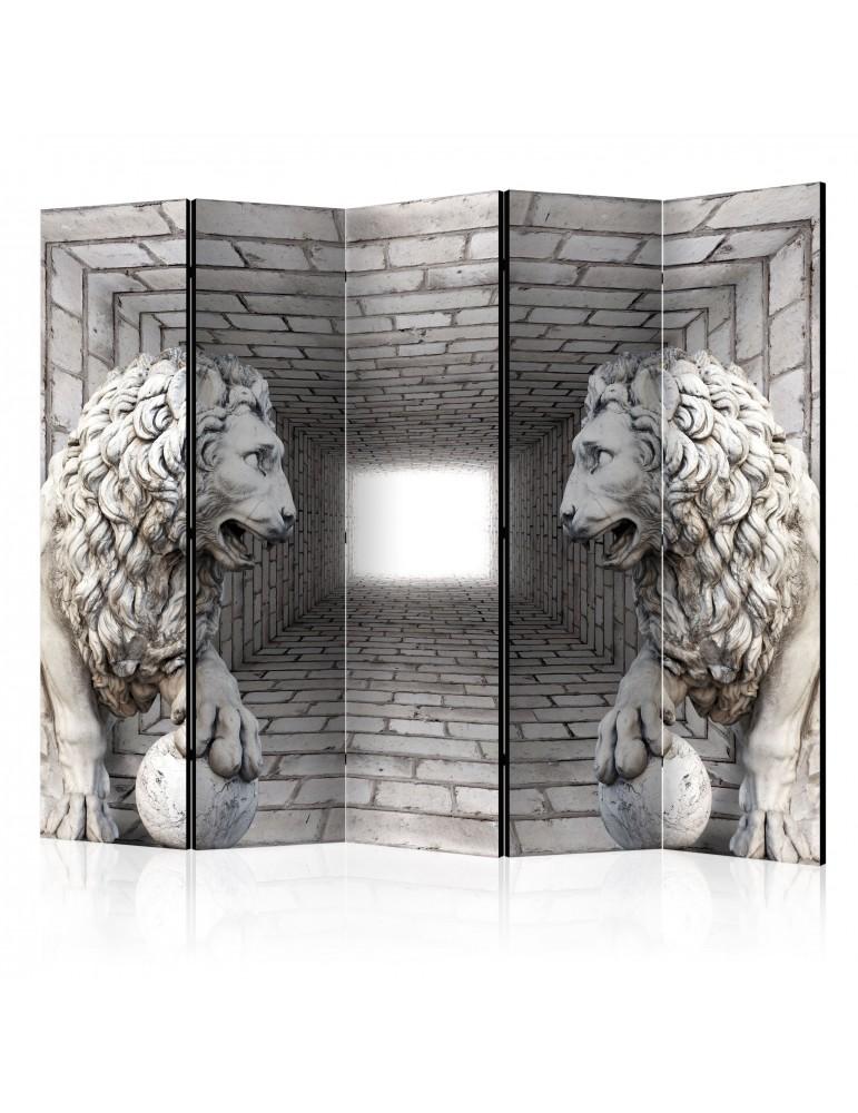 Paravent 5 volets - Stone Lions II [Room Dividers] A1-PARAVENT76