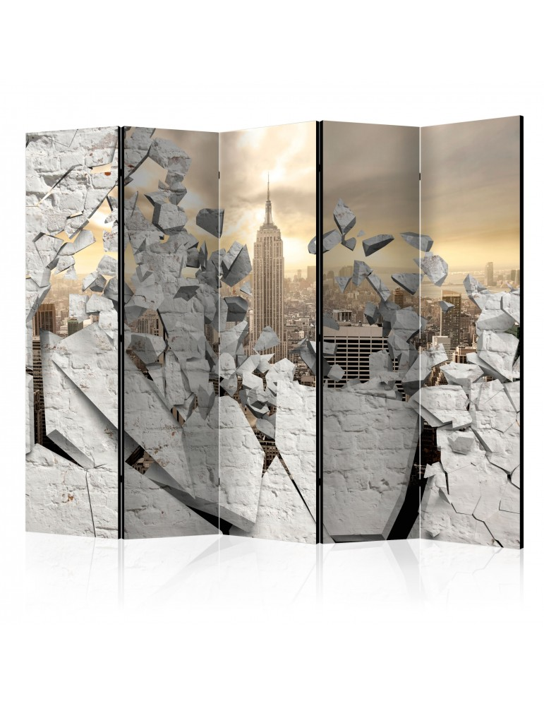 Paravent 5 volets - City behind the Wall II [Room Dividers] A1-PARAVENT44