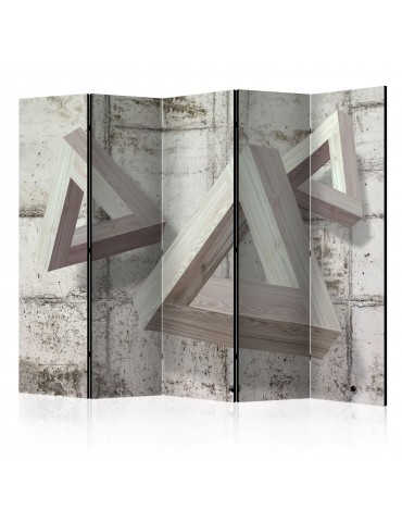 Paravent 5 volets - Grey Trio II [Room Dividers] A1-PARAVENT58
