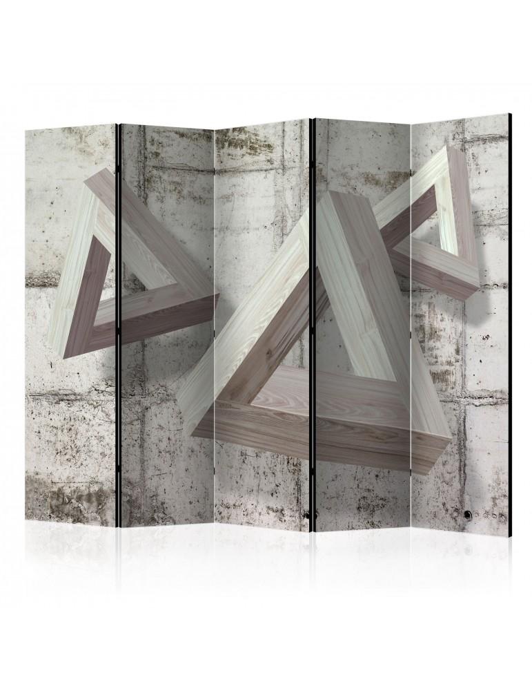Paravent 5 volets - Grey Trio II [Room Dividers] A1-PARAVENT58