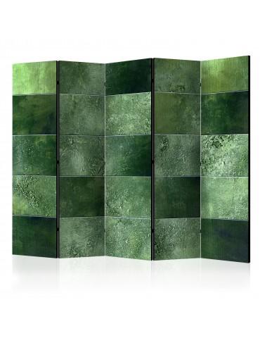 Paravent 5 volets - Green Puzzle II [Room Dividers] A1-PARAVENT129